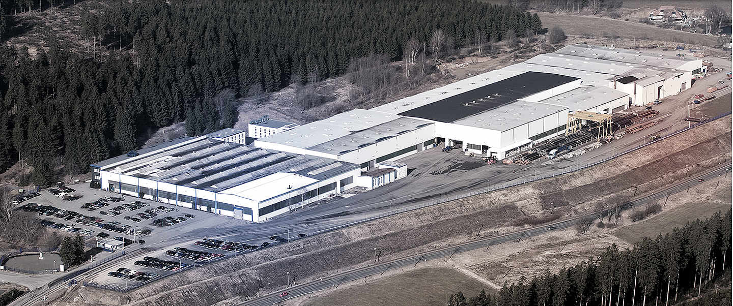 Aerial View of the EEW Headquarter in Erndtebrück