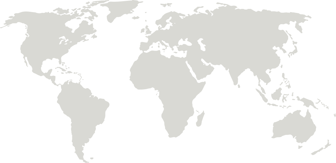 Silhouette of the world map