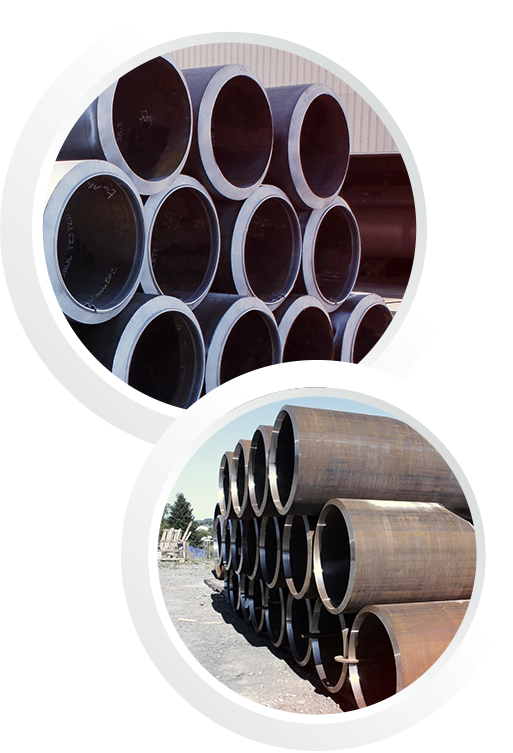 Process pipes in different sizes and specifications