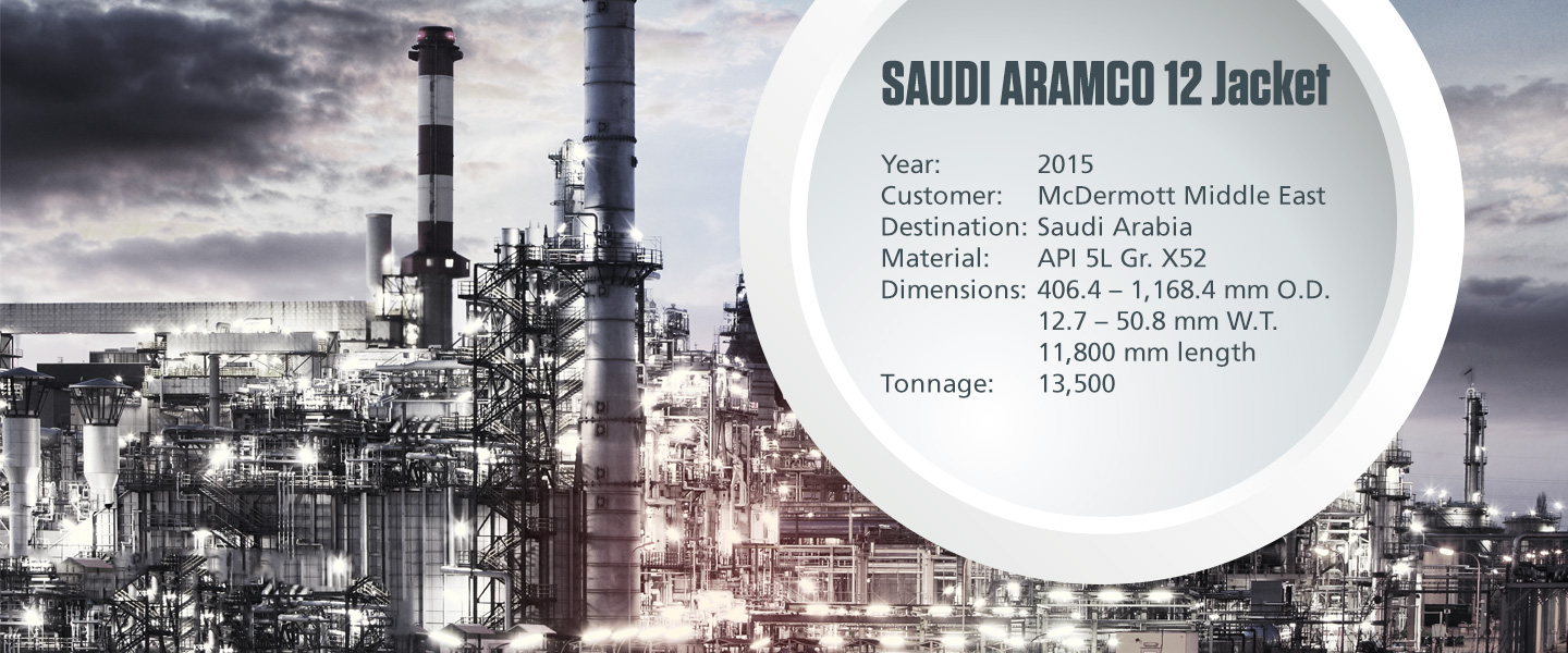SAUDI ARAMCO 12 Jacket project with technical specifications