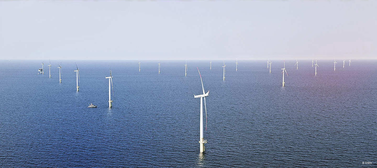 Offshore wind energy power plant