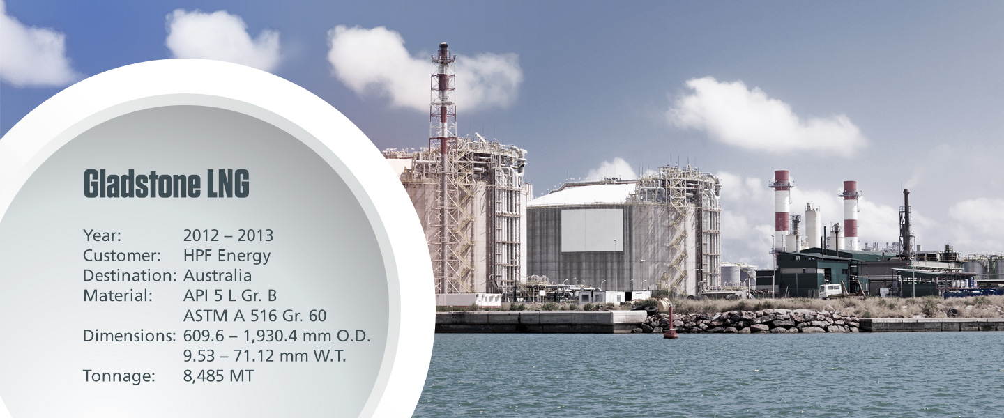 Gladstone LNG project with technical specifications