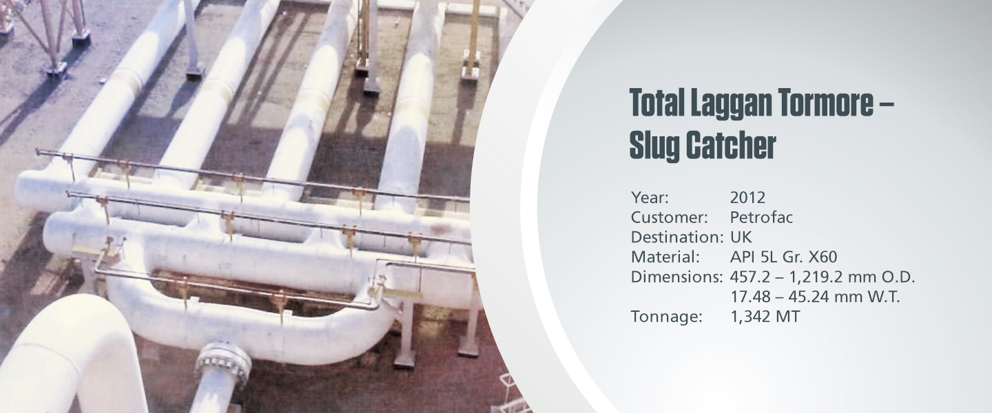 Total Laggan Tormore - Slug Catcher project with terchnical specifications