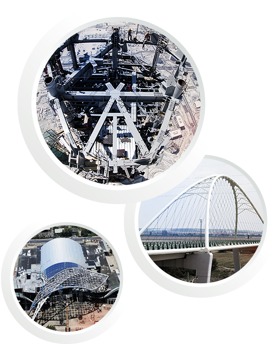 Steel constructions for bridges and roofs